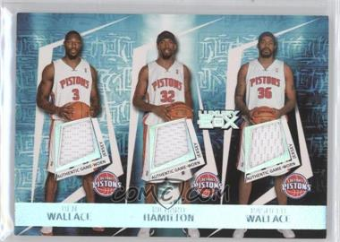 2005-06 Topps Luxury Box Triple Double Relics #TDR-9 - Ben Wallace, Richard Hamilton, Rasheed Wallace, Chauncey Billups, Tayshaun Prince /193
