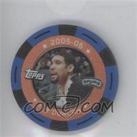 2005-06 Topps NBA Collector Chips Blue #N/A - Tim Duncan