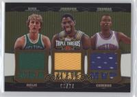 Larry Bird, Mark Jones, Isiah Thomas /27