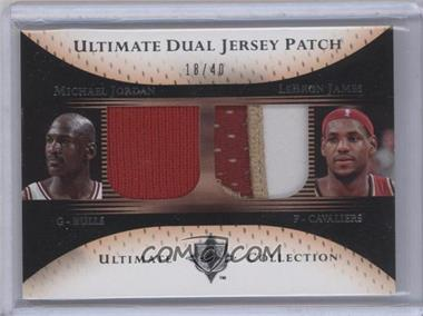 2005-06 Ultimate Collection Ultimate Dual Jersey Patch #DP-JJ - Michael Jordan, Lebron James /40