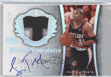 2005-06 Upper Deck Exquisite Collection Noble Nameplates #NN-ST - Sebastian Telfair /25