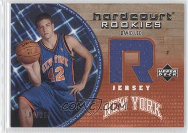 2005-06 Upper Deck Hardcourt Hardcourt Rookies Jerseys #93-J - David Lee /250