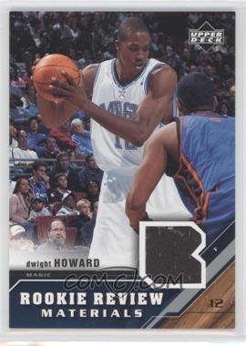 2005-06 Upper Deck Rookie Review Materials #RRM-DH - Dwight Howard