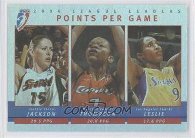 2005 Rittenhouse WNBA - 2004 League Leaders #LL1 - Points Per Game (Lauren Jackson, Lisa Leslie, Tina Thompson)