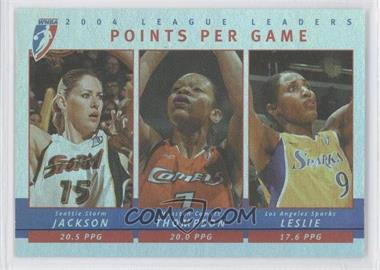 2005 Rittenhouse WNBA 2004 League Leaders #LL1 - Points Per Game (Lauren Jackson, Lisa Leslie, Tina Thompson)