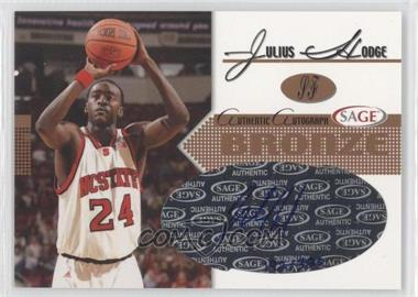 2005 Sage Autographs Bronze #A11 - Julius Hodge /320
