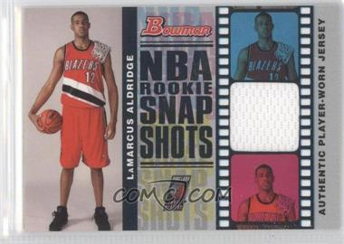 2006-07 Bowman Draft Picks & Stars - NBA Rookie Snap Shots Jerseys #RSR-LA - LaMarcus Aldridge /199
