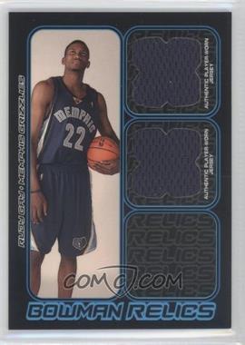 2006-07 Bowman Draft Picks & Stars Bowman Relics Dual #BDR-RG - Rudy Gay /249