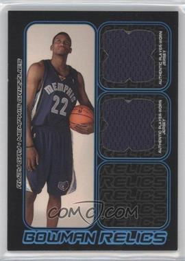 2006-07 Bowman Draft Picks & Stars Bowman Relics Dual #BDR-RG - Rudy Gay /249