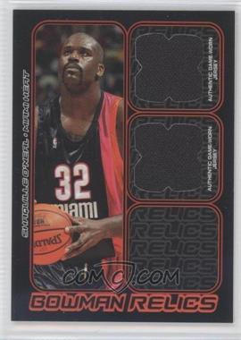 2006-07 Bowman Draft Picks & Stars Bowman Relics Dual #BDR-SO - Shaquille O'Neal /249