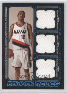 2006-07 Bowman Draft Picks & Stars Bowman Relics Triple #BTR-LA - LaMarcus Aldridge /50