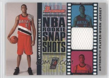 2006-07 Bowman Draft Picks & Stars NBA Rookie Snap Shots Jerseys #RSR-LA - LaMarcus Aldridge /199