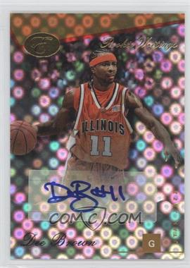 2006-07 Bowman Elevation - Rookie Writings - Gold [Autographed] #RWA-DBR - Dee Brown /59