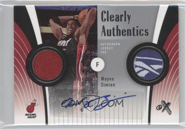 2006-07 Fleer EX Clearly Authentics Autograph Jersey Tag [Autographed] #CA-SI - Wayne Simien /10
