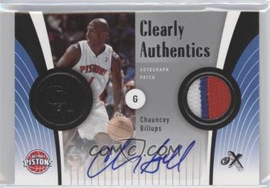 2006-07 Fleer EX Clearly Authentics Autograph Patch [Autographed] #CA-BI - Chauncey Billups /25