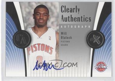 2006-07 Fleer EX Clearly Authentics Autographs [Autographed] #CAA-WB - Will Blalock