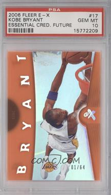 2006-07 Fleer EX Essential Credentials Future #17 - Kobe Bryant /64 [PSA 10]