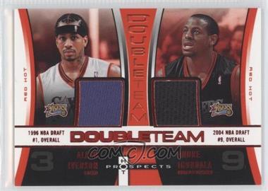 2006-07 Fleer Hot Prospects - DoubleTeam - Red Hot #DT-AI - Allen Iverson, Andre Iguodala /25