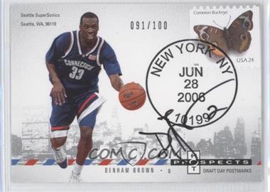 2006-07 Fleer Hot Prospects Draft Day Postmarks #DD-DB - Devin Brown /100