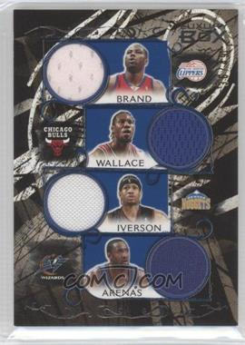 2006-07 Luxury Box - Relics Seven - Blue #LB7R-3 - Elton Brand, Ben Wallace, Allen Iverson, Gilbert Arenas, Shawn Marion, Carmelo Anthony, Yao Ming /49