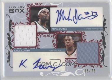 2006-07 Luxury Box Courtside Relics Dual Autographs #CDAR-JL - Mike James, Kyle Lowry /79