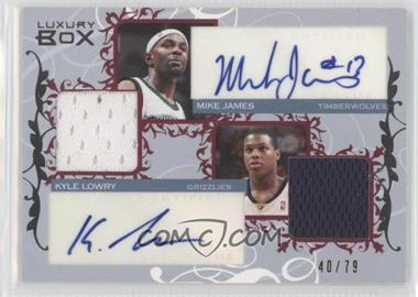 2006-07 Luxury Box Courtside Relics Dual Autographs #CDAR-JL - Mike James, Kyle Lowry /79