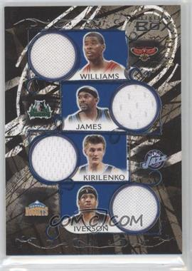 2006-07 Luxury Box Relics Quad Blue #LBQR-20 - Marvin Williams, Andrei Kirilenko, Mike James, Allen Iverson /49