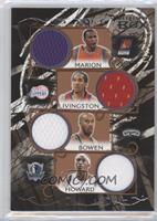 Shawn Marion, Shaun Livingston, Bruce Bowen, Josh Howard /19