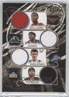 Marvin Williams, Andrei Kirilenko, Mike James, Allen Iverson /199