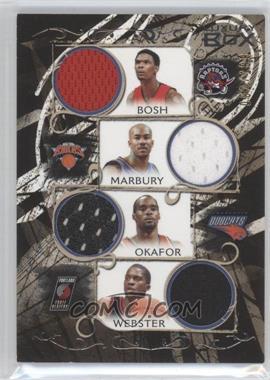 2006-07 Luxury Box Relics Quad #LBQR-9 - Chris Bosh, Stephon Marbury, Emeka Okafor, Martell Webster /199