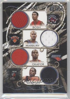2006-07 Luxury Box Relics Quad #LBQR-9 - Chris Bosh, Stephon Marbury, Emeka Okafor, Martell Webster /199