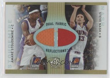 2006-07 Reflections Dual Fabric Reflections Gold #DR-NS - Amar'e Stoudemire, Steve Nash /100