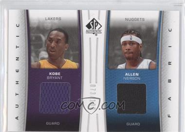 2006-07 SP Authentic - Authentic Fabric - Dual #DF-BI - Kobe Bryant, Allen Iverson /100