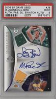 Larry Bird, Magic Johnson /15 [PSA 9]