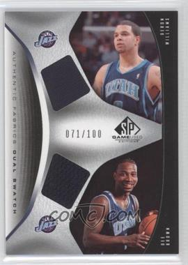 2006-07 SP Game Used Edition Authentic Fabrics Dual Swatch #AFD-WB - Deron Williams /100