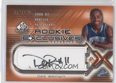 2006-07 SP Game Used Edition Rookie Exclusives Autographs #RE-DE - Dee Brown /100
