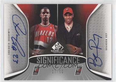 2006-07 SP Game Used Edition SIGnificance Dual #SD-AR - LaMarcus Aldridge, Brandon Roy /50