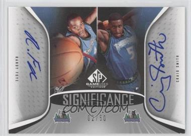 2006-07 SP Game Used Edition SIGnificance Dual #SD-FS - Randy Foye, Craig Smith /50