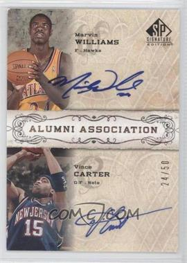 2006-07 SP Signature Edition - Alumni Association - [Autographed] #AA-WC - Marvin Williams, Vince Carter /50