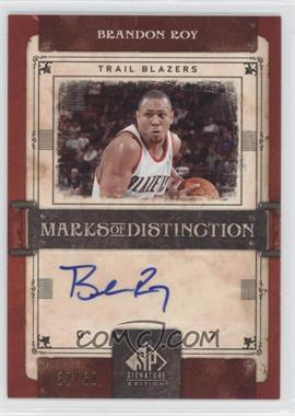 2006-07 SP Signature Edition - Marks of Distinction - [Autographed] #MD-BR - Brandon Roy /50