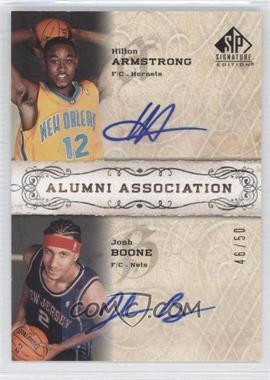 2006-07 SP Signature Edition Alumni Association [Autographed] #AA-AB - Hilton Armstrong, Josh Boone /50