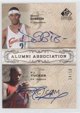 2006-07 SP Signature Edition Alumni Association [Autographed] #AA-GT - Daniel Gibson, P.J. Tucker /50