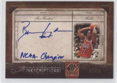 2006-07 SP Signature Edition Inkredible Inkscirptions [Autographed] #INK-BG - Ben Gordon /50