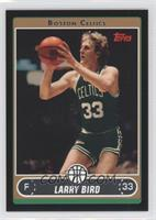 Larry Bird (Green Jersey Shooting Jumper with Ball by Face) /99