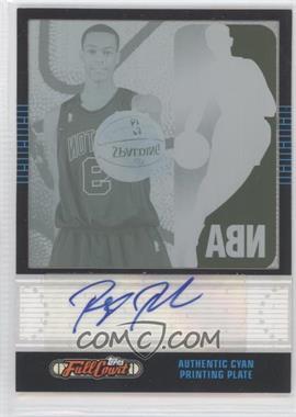 2006-07 Topps Full Court - [Base] - Printing Plate Cyan #121 - Rajon Rondo /1