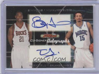 2006-07 Topps Full Court - Co-Signers Autographs #CS-20 - Bobby Simmons, Hedo Turkoglu