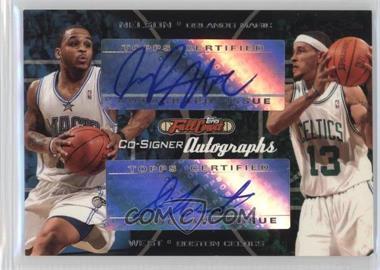 2006-07 Topps Full Court - Co-Signers Autographs #CS-21 - Jameer Nelson, Delonte West