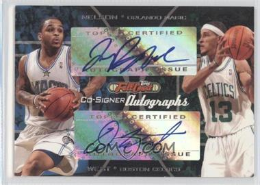 2006-07 Topps Full Court Co-Signers Autographs #CS-21 - Jameer Nelson, Delonte West