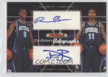 2006-07 Topps Full Court Co-Signers Autographs #CS-41 - Ronnie Brewer, Dee Brown