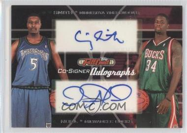 2006-07 Topps Full Court Co-Signers Autographs #CS-42 - Crystal Smith, David Noel